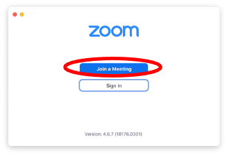 Image showing Zoom's join a meeting button